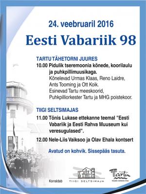 Eesti Vabariigi 98. aastapäeva tähistamine
